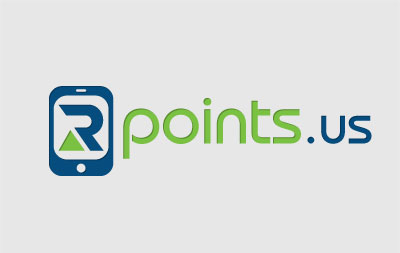 R points us Logo